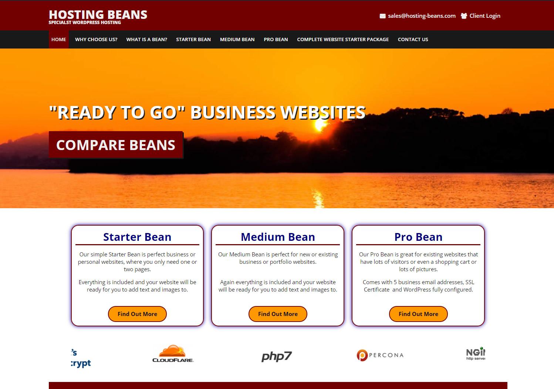 Hosting Beans Devon - Website hosting and design..